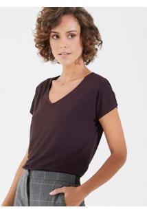 Camiseta Liz Easywear Manga Curta Feminina - Feminino-Vinho