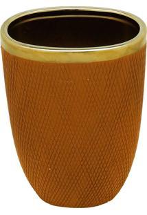 Vaso Decorativo De Cerâmica Braun