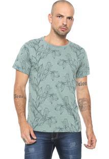 Camiseta Fiveblu Estampada Verde