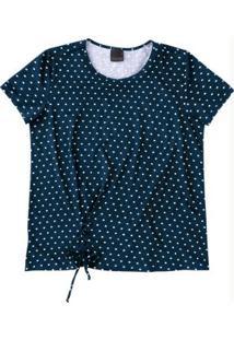 Blusa Azul Marinho Amarração Enfim