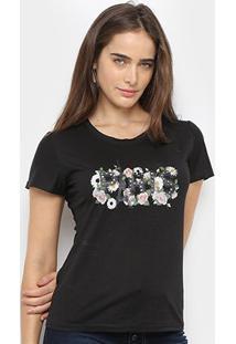 Camiseta Sofia Fashion Paris Feminina - Feminino-Preto