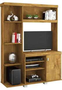 Estante Para Home Theater E Tv 32 Polegadas Leticia Plus Mel 130 Cm