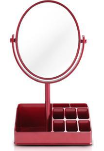 Espelho De Mesa Com Divisórias Jacki Design Espelho Vermelho