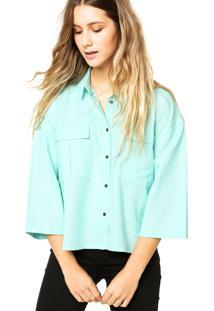 Camisa Manga Curta Calvin Klein Jeans Bolsos Verde