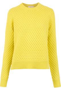 Tory Burch Blusa Tricô De Lã - Amarelo