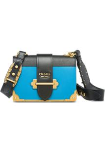 Prada Bolsa Tiracolo Cahier - Azul