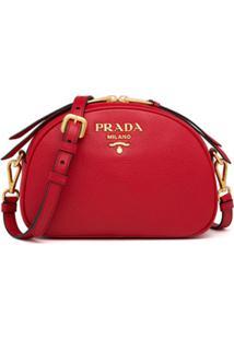 Prada Logo-Embellished Shoulder Bag - Preto