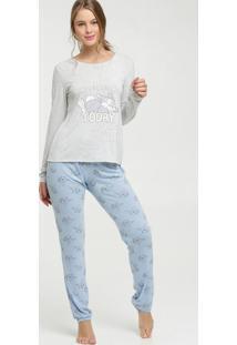 Pijama Feminino Estampa Bambi Manga Longa Disney