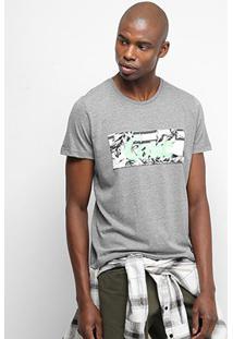 Camiseta Coca-Cola Recorte Folhagens Masculina - Masculino
