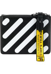 Off-White Bolsa Clutch 'Diag Double' - Preto