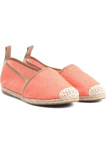 Sapatilha Shoestock Lona Feminina - Feminino-Laranja