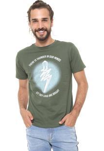 Camiseta Fiveblu Manga Curta Thunder Verde