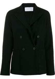 Harris Wharf London Fitted Wool Blazer - Preto