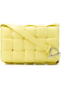Bottega Veneta Bolsa Tiracolo Cassette - Amarelo