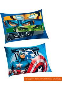 Fronha Infantil Avengers Algodão Azul