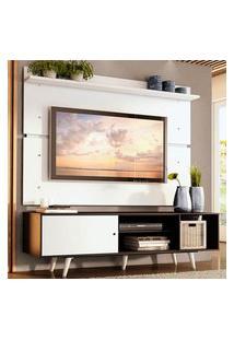 Rack Madesa Dubai E Painel Para Tv Até 65 Polegadas Com Pés - Preto/Branco 7709 Preto
