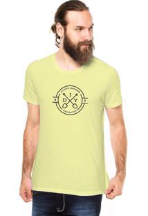 Camiseta Rgx Diy Authentic Skateboard Amarela Claro