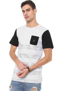 Camiseta Rusty Combust Branca/Preta
