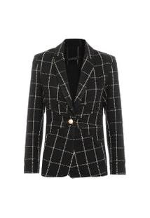 Blazer Feminino Tweed - Preto