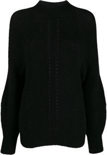 Pinko Suéter Canelado - Preto