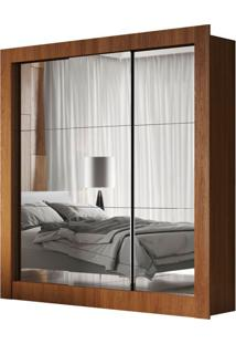 Guarda-Roupa Casal Luiza Com 3 Espelhos 3 Pt Marrom