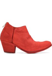 Officine Creative Ankle Boot 'Giselle' De Couro - Vermelho