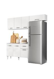 Cozinha Modulada 3 Módulos Composiçáo 3 Branco - Lumil Móveis