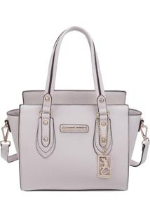 Bolsa Com Bag Charm- Off White- 23X26X14Cm- Fellfellipe Krein