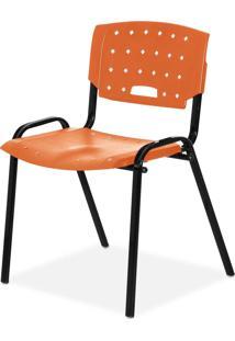 Cadeira Plastica Fit Laranja Giobel - Laranja - Dafiti