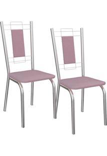 Kit 2 Cadeiras Florença - Kappesberg - Salmao
