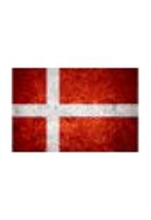 Painel Adesivo De Parede - Bandeira Dinamarca - 1021Pnm