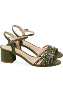 Sandalias Saltare Giordana Verde Musgo 40 - Feminino-Verde