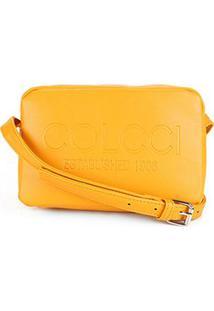 Bolsa Colcci Mini Bag Established 1986 Feminina - Feminino-Amarelo