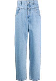 Forte Dei Marmi Couture Calça Jeans Boyfriend Cintura Alta - Azul