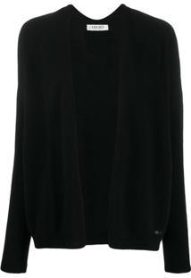 Liu Jo Cardigan Com Abertura Frontal - Preto