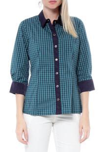 Camisa Xadrez - Moché - Feminino-Verde