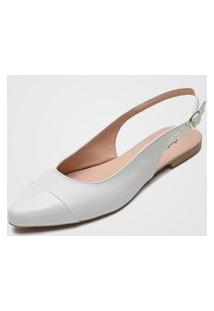 Sapatilha Dafiti Shoes Verniz Off-White