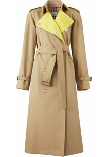 Burberry Trench Coat Color Block - Marrom