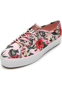 Tênis Keds Floral Rosa