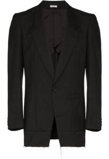 Comme Des Garçons Homme Plus Unfinished Tailored Jacket - Preto