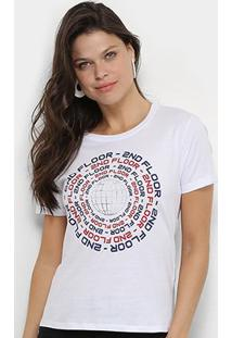 Camiseta Ellus 2Nd Floor Co Fine Repeat Feminina - Feminino