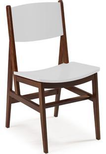 Cadeira De Jantar Dumon Cacau E Branco