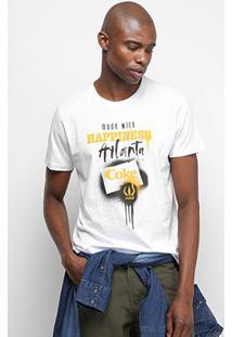 Camiseta Coca-Cola Made With Hapiness Atlanta Masculina - Masculino-Branco
