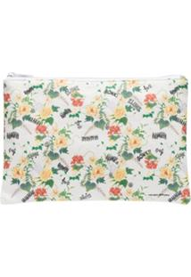Private Label Clutch Floral - Branco