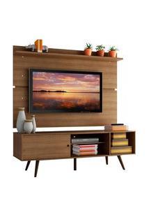 Rack Madesa Cairo E Painel Para Tv Até 65 Polegadas Com Pés De Madeira - Rustic Marrom
