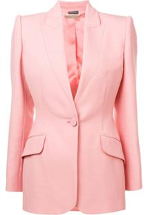 Alexander Mcqueen Single-Breasted Blazer - Rosa