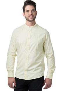 Camisa Alfaiataria Burguesia Stil Gola Padre Casual Amarela