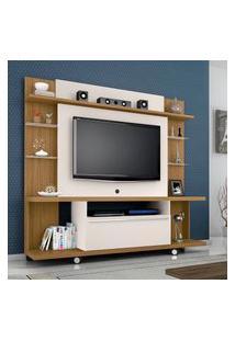 Estante Para Tv 55 Pol Móveis Bechara New Torino Cinamomo/Off White