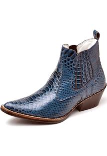 Bota Top Franca Shoes Country Azul