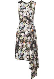 Adam Lippes Floral Print Midi Dress - Estampado